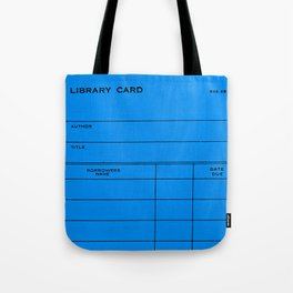 Library Card BSS 28 Blue Tote Bag