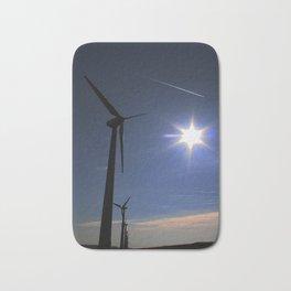 Windfarm and Blue Sky Bath Mat