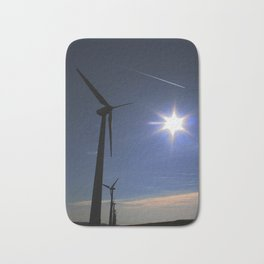 Windfarm and Blue Sky Bath Mat