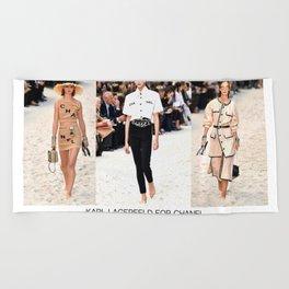 fashion runway inspired  Beach Towel