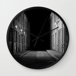Deadend Alley Wall Clock