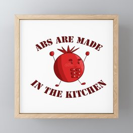 Six-Pack Tomato - Abs are made in the Kitchen Framed Mini Art Print