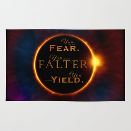 Falter and Fear Rug