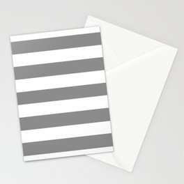 Philippine gray - solid color - white stripes pattern Stationery Cards