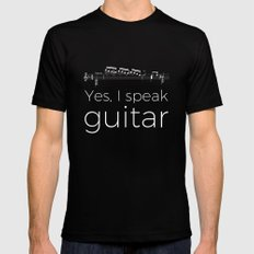 Yes, I speak guitar Black X-LARGE Mens Fitted Tee