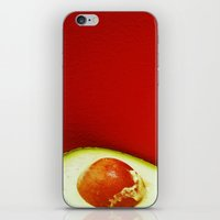 avocado iPhone & iPod Skins featuring Avocado by Olivier P.