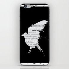 Raven Typography iPhone & iPod Skin
