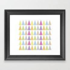 Triangles_ Framed Art Print