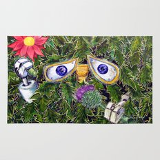 wall-E in the bushes Rug