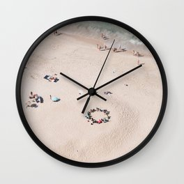 beach - circle of friends Wall Clock