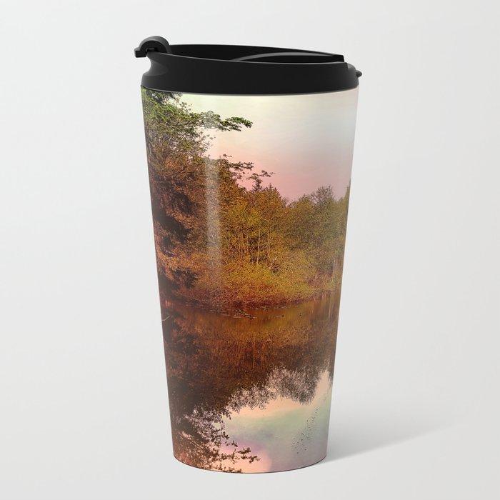 Mirror Pond, Perfect Stillness At Sunset Metal Travel Mug