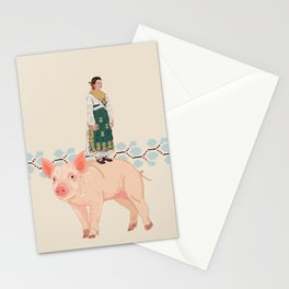 Traditional woman- Slavonija Stationery Cards