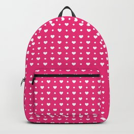 Hearts with polka dots pattern design Backpack
