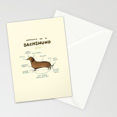 Anatomy of a Dachshund Stationery Cards