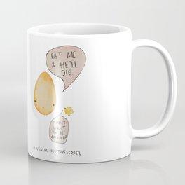 Say No to Animal Cruelty Say No Eggs - Vegan Art Decor Coffee Mug