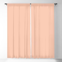 Inspired By Valspar America Tropical Breeze Pastel Peach Orange 2002-2A Solid Color Blackout Curtain