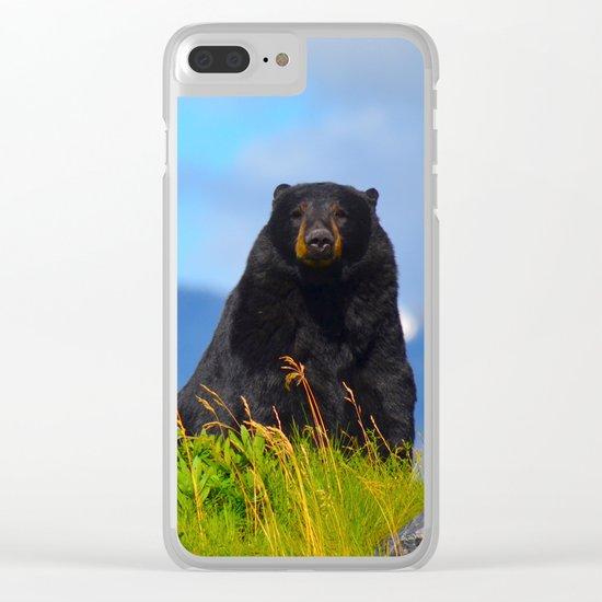 Alaskan Black Bear Clear iPhone Case