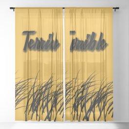 The terrible towel Sheer Curtain