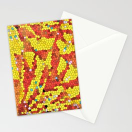 Yellow and red abstract Stationery Cards
