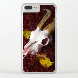 Red Grass Clear iPhone Case