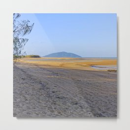 secluded beach at low tide Metal Print