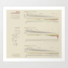 Atlases of world history (Visual Data 14) Art Print