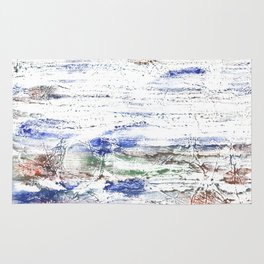 Multicolored clouded wash drawing painting Rug