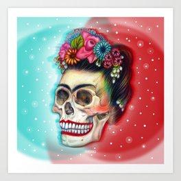 Frida's Skull ~Variation Art Print