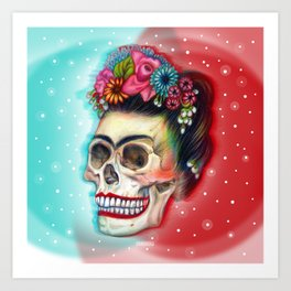 Frida's Skull ~Variation Art Print