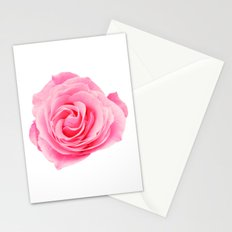 Swirly Petals Pink Rose Stationery Cards