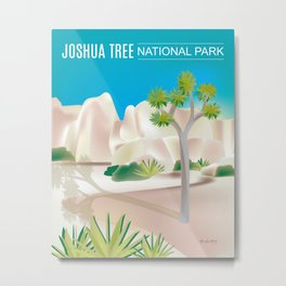 Joshua Tree National Park, California - Skyline Illustration by. Loose Petals Metal Print