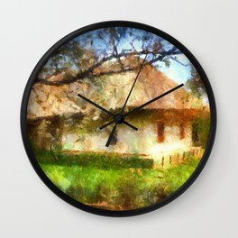old Ukrainian house  Wall Clock