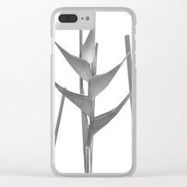 Three Heliconia black white Design Clear iPhone Case