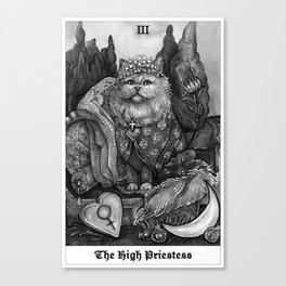 The Empress - Cat Tarot card Canvas Print