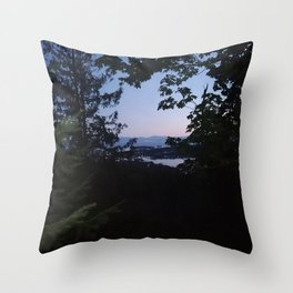 Night scene from Sechelt BC Canada Throw Pillow