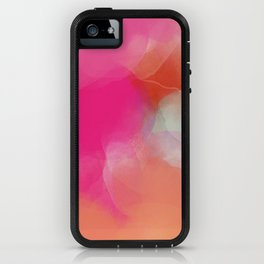 dreamy days in pink peach aquarell iPhone Case