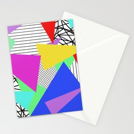 Bits And Pieces - Retro, random, abstract pattern Stationery Cards