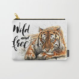 Tiger Wild and Free Carry-All Pouch