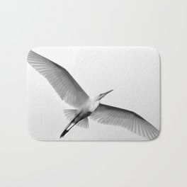 Great White Egret Bath Mat