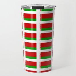 flag of belarus -Беларусь,Белоруссия,Belarus,Belarusian,Minsk. Travel Mug