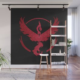 Team Valor Sparkly red sparkles Wall Mural