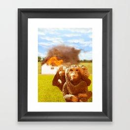 Monkeys Make Bad Pets. Framed Art Print