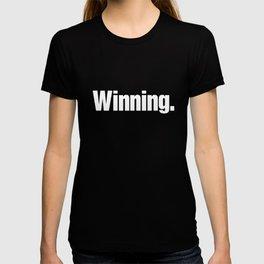 Winning Classic Charlie Sheen Meme Block Duh Text Meme T-Shirts T-shirt