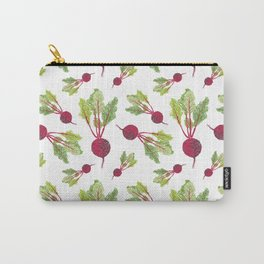 Feel the Beet in Radish White Carry-All Pouch