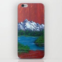 Snowy Mountain Lake iPhone Skin