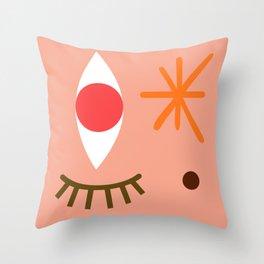 Bright Eyed & Bushy Tailed Throw Pillow
