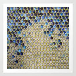 Apis Blue Art Print