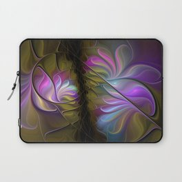 Come Together, Abstract Fractal Art Laptop Sleeve