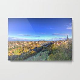 Edinburgh City View Metal Print