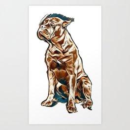 adorable alert animal attentive Art Print